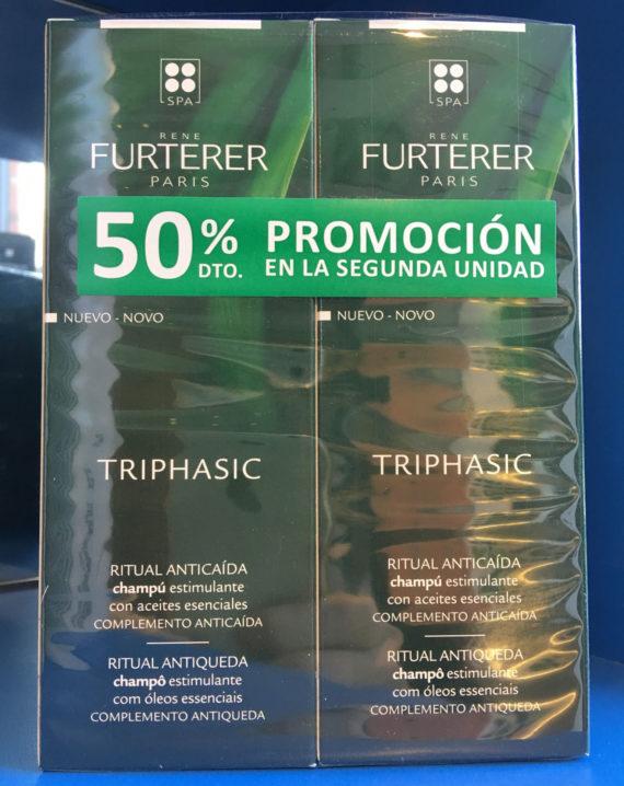 Triphasic Champu Estimulante Con Aceites Esenciales 200ml + 200ml Con 50% De Descuento En La Segunda Unidad - Rene Furterer